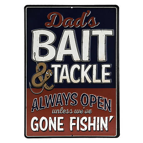 Open Road Brands Bait & Tackle Embossed Tin Sign