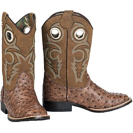 4b45d1c7b34 DBL Barrel Boy's Brant Ostrich Print Boot at Tractor Supply Co.