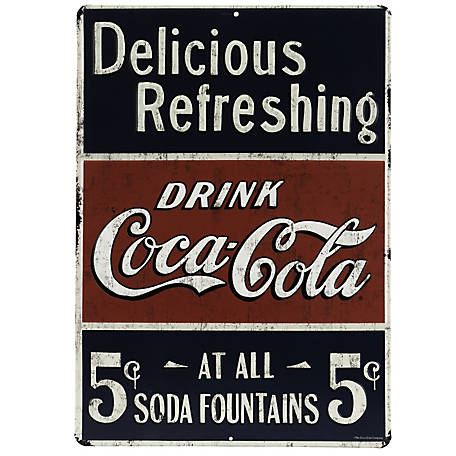 Open Road Brands Coca-Cola Embossed Tin Sign