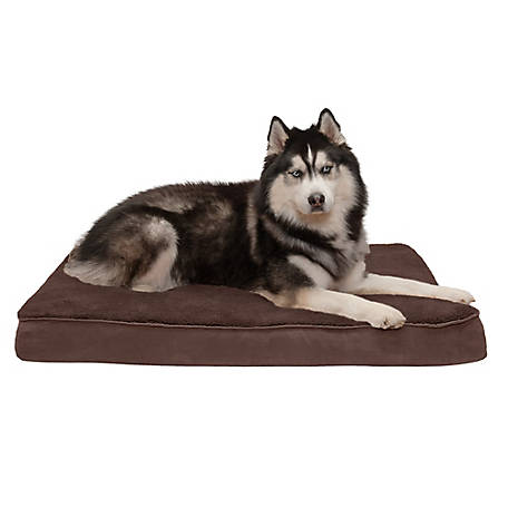 FurHaven Snuggle Terry & Suede Deluxe Orthopedic Pet Bed