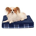 FurHaven Faux Sheepskin & Plaid Deluxe Orthopedic Pet Bed