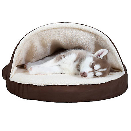 FurHaven Faux Sheepskin Snuggery Orthopedic Pet Bed