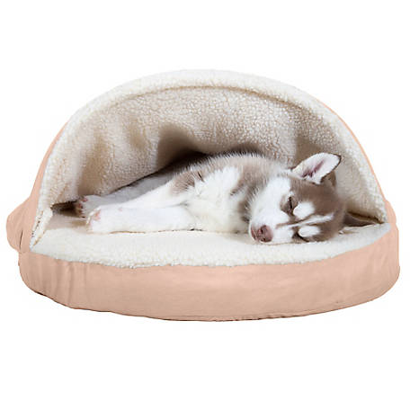 FurHaven 26in Sherpa Snuggery Orthopedic Dog Bed