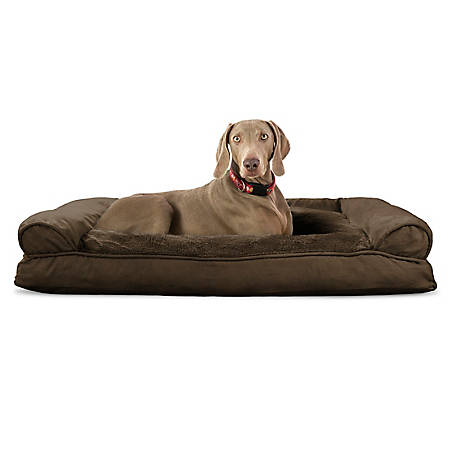 FurHaven Plush & Suede Pillow Sofa Pet Bed