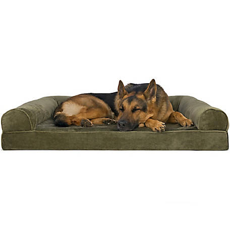 FurHaven Faux Fur & Velvet Orthopedic Sofa Pet Bed