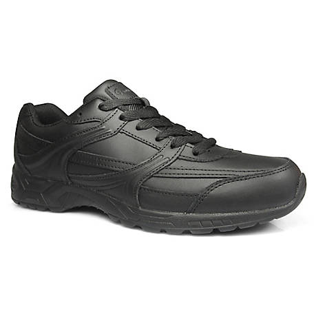 Genuine Grip Men's #1015 Leather Slip-Resistant Jogger Work Shoes