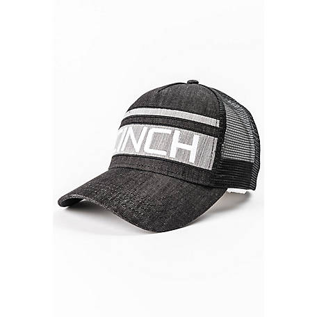 Cinch Pieced Denim Trucker Cap with Mesh Back