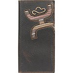 Hooey Brands Signature Leather Checkbook Wallet