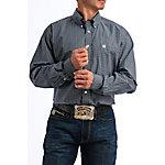 Cinch Classic Fit Plain Plaid Weave Long Sleeve Shirt