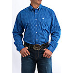 Cinch Classic Fit Printed Plain Weave Long Sleeve Shirt