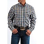 Cinch Classic Fit Plaid Plain Weave Shirt with Double Pockets