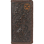 Hooey Brands Signature Leather Checkbook Wallet, Whipstich