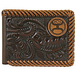Hooey Brands Signature Leather Front Pocket Bi-Fold Wallet