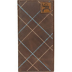 Hooey Brands Roughy Signature Leather Checkbook Wallet