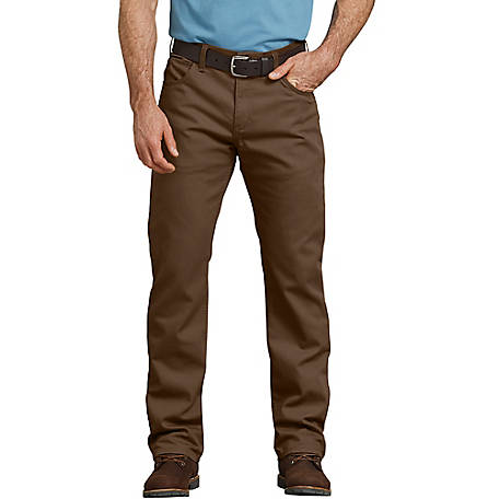 Dickies Men's FLEX Regular Fit Straight Leg Tough Max Duck 5-Pocket Pants