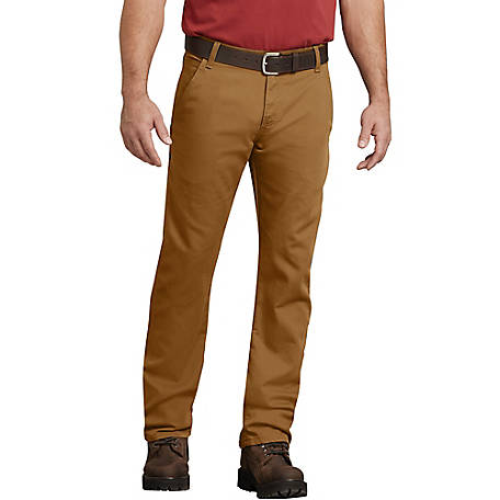 Dickies Men's FLEX Regular Fit Straight Leg Tough Max Duck Carpenter Pant