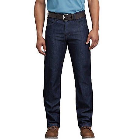 Dickies Men's FLEX Regular Fit Straight Leg 5-Pocket Tough Max Denim Jean