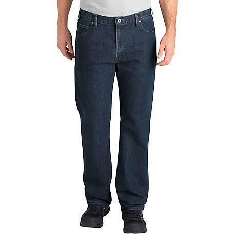 e0ba7958 Dickies Men's FLEX Relaxed Fit Straight Leg 5-Pocket Tough Max Denim Jean