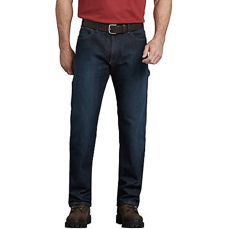Dickies Men's FLEX Relaxed Fit Straight Leg 5-Pocket Carpenter Tough Max Denim Jean