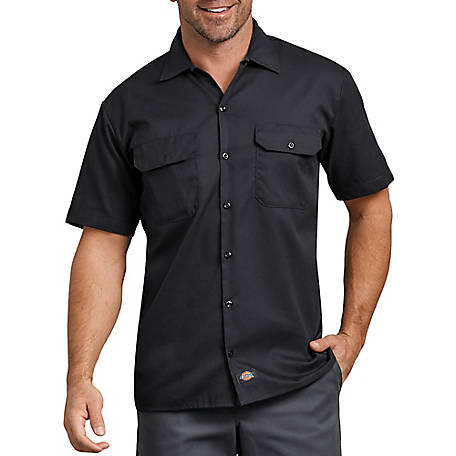 Dickies Men's FLEX Relaxed Fit Short Sleeve Twill Work Shirt