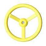 KidKraft Steering Wheel, Yellow
