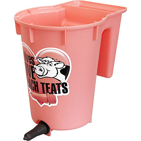 Peach Teats Single Feeder Bucket