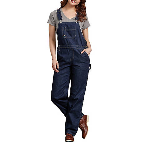 Dickies Women's Relaxed Fit Straight Leg Bib Overalls