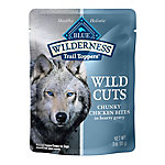 Blue Buffalo Wilderness Trail Toppers Wild Cuts Grain-Free Chunky Chicken Bites in Hearty Gravy Dog Food Topper, 3 oz.