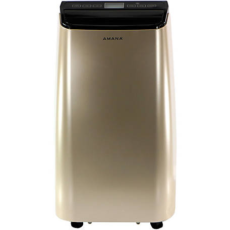 Amana Portable Air Conditioner with Remote Control, Gold/Black for Rooms up to 250 Sq. ft.