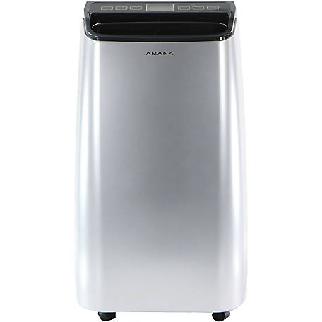 Amana Portable Air Conditioner with Remote Control, Silver/Gray for Rooms up to 250 Sq. ft.