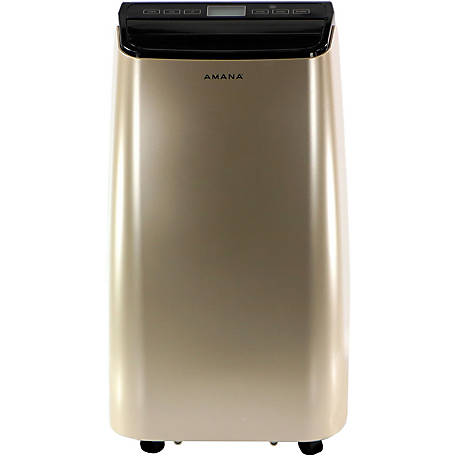 Amana Portable Air Conditioner with Remote Control, Gold/Black for Rooms up to 350 Sq. ft.