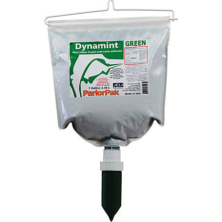 Dynamint Mint Udder Cream with Color Indicator ParlorPak, 1 Gal./3.78L