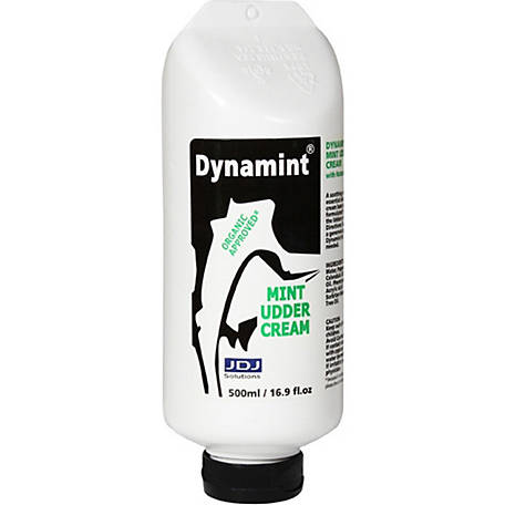 Dynamint Organic Approved Mint Udder Cream, 500mL/16.9 fl. oz.
