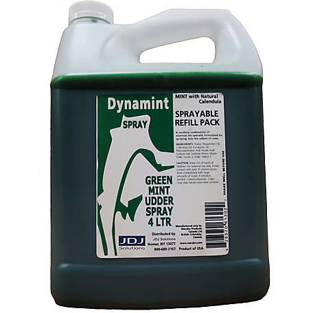 Dynamint Spray Green Mint Udder Spray, 4L Sprayable Refill Pack