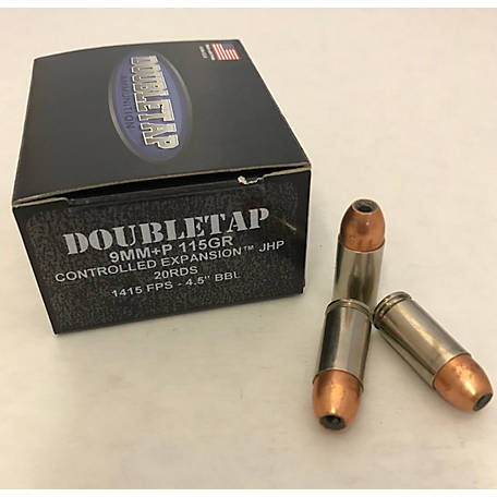 DT 9mm +P 115GR Controlled Expansion JHP, 9MM115CE