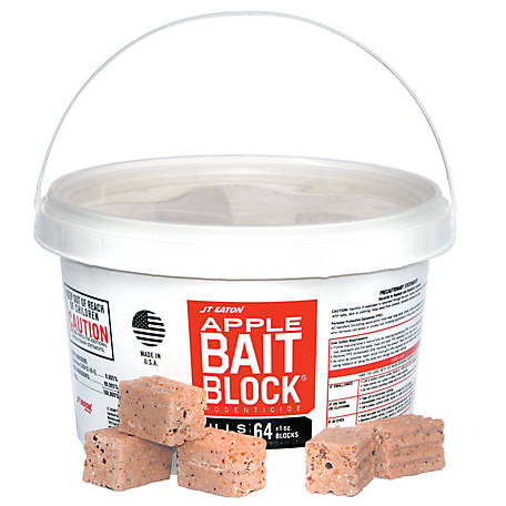 JT Eaton Bait Block With Apple Flavor (4 lb. Pail)