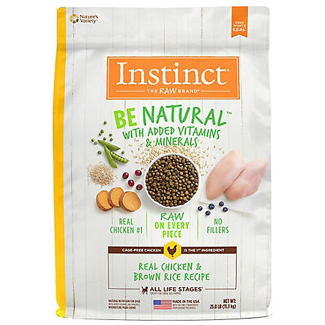 Instinct Be Natural Chicken Recipe Natural Dry Dog Food, 25 lb.