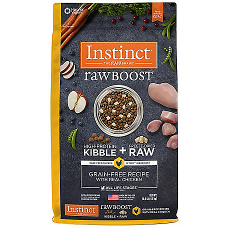 Instinct Chicken Raw Boost Grain Free Recipe Natural Dry Dog Food, 10 lb.