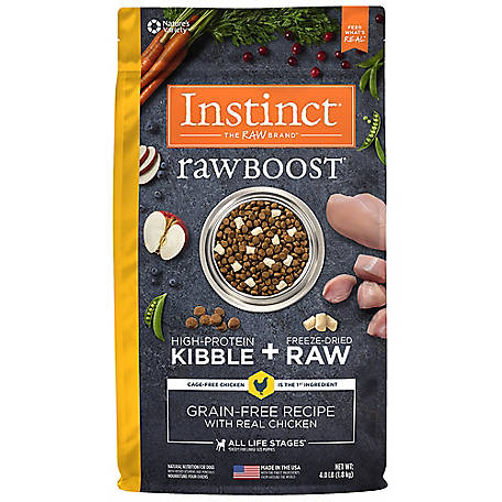 Instinct Raw Boost Grain-Free Chicken Recipe Natural Dry Dog Food, 4 lb.