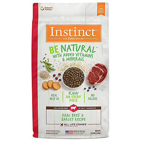 Instinct Be Natural Beef & Barley Recipe Natural Dry Dog Food, 4.5 lb.