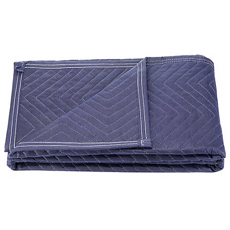 Barn Star 72 in. x 45 in. Solid Blue Moving Blanket, 2-Pack, TSC-L12-B1001-2
