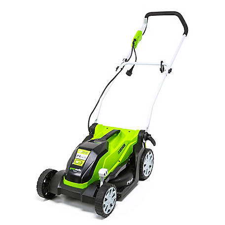 Greenworks 9 Amp 14 in. Brushed Push Mower-MO09B01