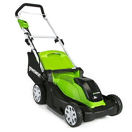 Greenworks 10 Amp 17 in. Brushed Push Mower-MO10B00