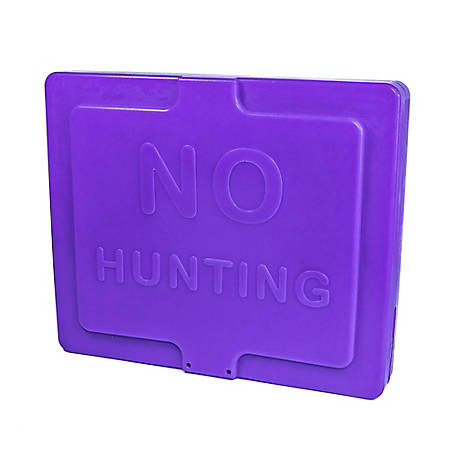 Target Factory Tpost Sign No Hunt Entry Purple 5, TPEP05