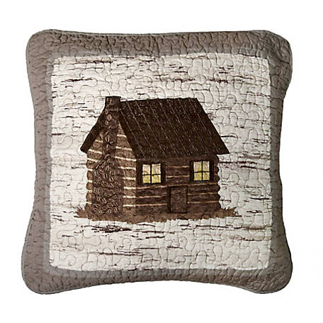 Donna Sharp Birch Forest Log Cabin Decorative Pillow