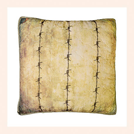 Donna Sharp Wood Patch Barbed Wire Decorative Pillow