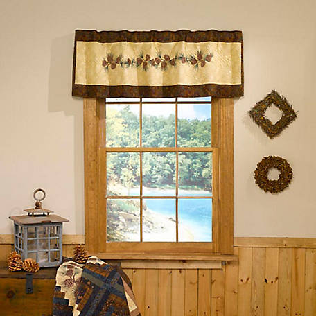 Donna Sharp Cabin Raising Pine Cone Valance Runner