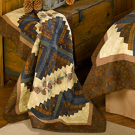 Donna Sharp Cabin Raising Pine Cone Throw