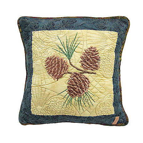 Donna Sharp Cabin Raising Pinecone Decorative Pillow