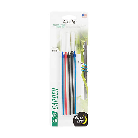 Nite Ize Gear Tie Twist Tie Taggable, 5 Pack, GTT5-A1-5R7